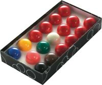 GOOD QUALITY SNOOKER BALLS SET FOR HOME POOL TABLES - ALL REDS & COLOURS ARE 2""