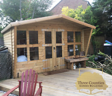 12x12 Summerhouse with 2ft Porch 19mmT&G Reverse Apex