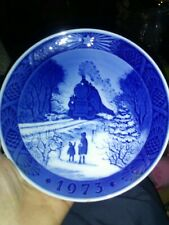 "Royal Copenhagen ""Going Home For Christmas� Plate Made in Denmark 1973"