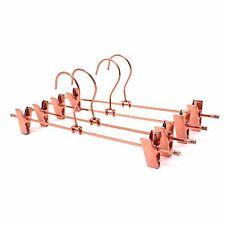 Koobay Copper Metal Clothes Hangers Steel Bottom Clips Pants Suit Hanging