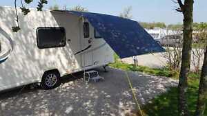 DELUX Universal sun canopy awning Caravan 240cm x 300cm MEDIUM GREY WILD EARTH