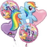 5 Piece My Little Pony Birthday Balloon Bouquet Party Decorating Supplies