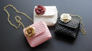 Kids/Girls Princess Handbag Sling Shoulder Bag PU Round Crossbody Purses 1-8 yrs