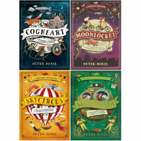 A Cogheart Adventure Series 4 Books Collection Set By Peter Bunzl Moonlocket NEW