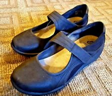 Womens Clarks Cloudstepper Caddell Yale Black Mary Jane Comfort Wedge Shoes 8.5M
