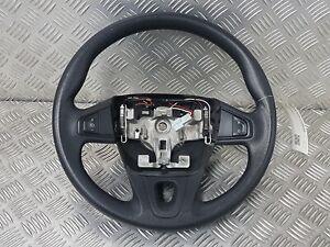 Lenkradbezug zum Schnüren Schwarz Glatt Rote Naht Renault Kangoo Laguna Ford
