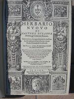 HERBARIO NUOVO ANASTATICA ERBARIO BOTANICA FARMACIA FARMACOPEA MEDICINA 1585