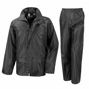 Mens Women Waterproof Windproof Heavy Duty Jacket and Trousers Rain Suit + BAG
