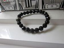 Thomas Sabo Armband Obsidian Größe L  A1079-159-11 Zirkonia Pavée 21 cm schwarz