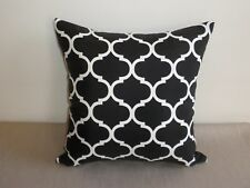 Outdoor Black & White  Moroccan Lattice Trellis Cushion Cover 40/45cm Au Made
