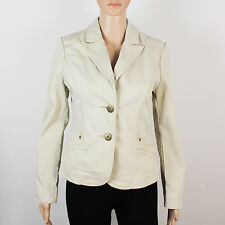 Miss Selfridge womens Size 10 beige button up cotton jacket