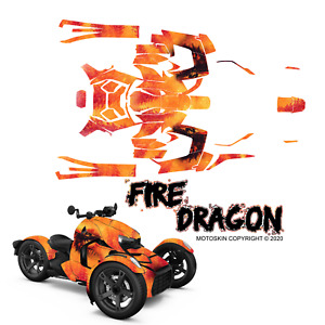 Decal wrap Fire Dragon Graphic Template for BRP CAN-AM RYKER