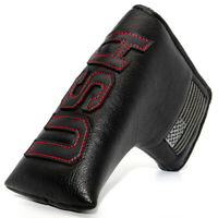 USA Blade Putter Cover Headcover Magnetic Golf Accessory Thick pu Leather Black
