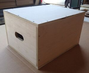 "12""x16""x20"" Plyo Box  MMA Exercise Equipment Crossfit Jump Plyometric Flatpack"