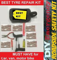 Tyre Repair Kit with Strings /Plug/Insert & Cement Tube Kit 42 Pieces