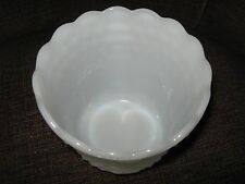"Bubble , White Milk Glass , Bowl , 4 1/2"" High , 5"" Diameter ,13"" Circumference"