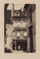 Calle Llaveros A Lions Dijon Francia Vintage Albúmina Aprox 1860-65