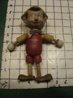 Vintage -- DISNEY -- 1930's PINOCCHIO DOLL -- wooden by Ideal -- as found STANDS