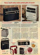 1974 ADVERTISEMENT Radio Clock TV Smiley Ball 4-Band Headphone Pocket
