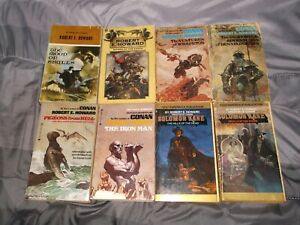 Lot of 8 ROBERT E HOWARD vintage paperbacks from 1975 to 1979.