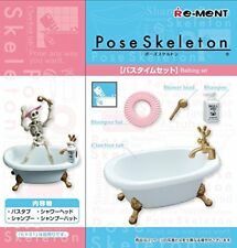 Pose skeleton accessories bus time set Re-Ment
