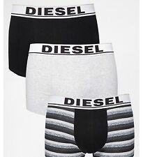 NWT Diesel Shawn. Men 3 Pack. Sz L. Boxer,Cotton. Multi-Color Solid, MSRP $44.00