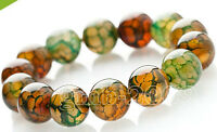 fashion  bracelet all 10mm NATURAL DRAGON VEINS AGATE stone beads bracelet