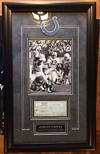 JOHNNY UNITAS Signed Check FROM THE PERSONAL Collection of KEN STABLER with COA