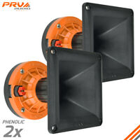 "2x PRV Audio WG270Ph Compact Phenolic 2"" VC Compression Driver + Horn 300 Watts"