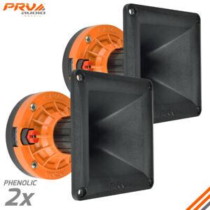 "2x PRV Audio WG270Ph Compact Phenolic 2"" VC Compression Driver + Horn 300 Watts"