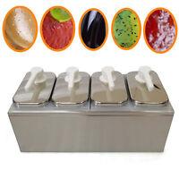 Sauce Dispenser Pump Squeeze Condiment Dispensing Stainless Steel 1/2/3/4L USA