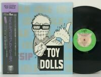 Toy Dolls - Idle Gossip LP 1986 Japan Vap 35174-25 Adicts Punk VINYL w/ obi