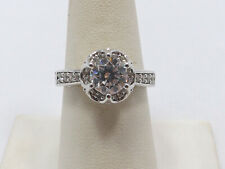 Engagement Ring, size 8 Verragio Sterling Silver & Cz