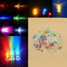 100Pcs Mixed Color 3mm LED Light Bulb Emitting Diode Bulbs Lamps Colorful Lights