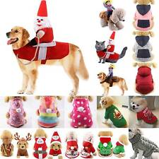 Pet Dog Cat Christmas Costume Santa Claus Cosplay Fancy Dress Jumpsuits Outfit