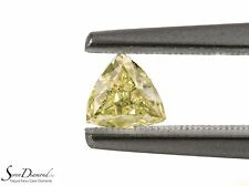 Fancy Greenish Yellow Natural Color 0.37 ct carat Loose Diamond GIA certificate