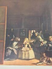 """1954 Vintage Full Color plate /""""The Maids of Honor/"""" Velazquez Lithograph"""