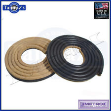 62-66 Mopar A B Body Door Weatherstrip Seals 2 Door Tan / Beige LM23GTAN Metro