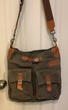 Mimo Canvas/leather Crossbody Bag Messenger Bag