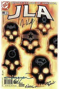 JLA 85 Signed by 4 DC Justice League Wonder Woman Superman Green Lantern Batman