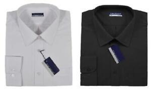 Mens Big Size Tom Hagan Long Sleeve Casual/Formal Shirt Size 3XL-6XL Black,White