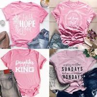 Christian T-shirt Faith Prayer Jesus Women Tee Printing Tops Christmas Present