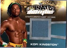 WWE Kofi Kingston Elimination Chamber 2010 Topps Event Used Mat Relic Card FD