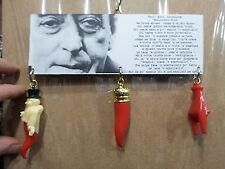 TARGA  corni grandi porta fortuna napoletani corno gobbo amuleti  horn charms