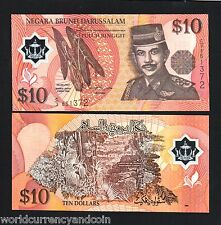 BRUNEI 10 RINGGIT P24 1996 FIRST DATE POLYMER UNC SINGAPORE CURRENCY MONEY NOTE