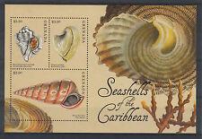 Grenada 2012 MNH Seashells of the Caribbean 3v M/S Shells Coral Surfclam
