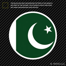 Round Pakistani Flag Sticker Die Cut Decal Self Adhesive Vinyl Pakistan PAK PK