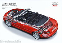 2757AU Audi S4 Cabriolet Prospekt Fahrwerk Antrieb 2004 9/03 Bildprospekt