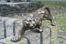Bronzeskulptur Jaguar Wildkatze Dekorationsfigur Gartendekoration aus Bronze