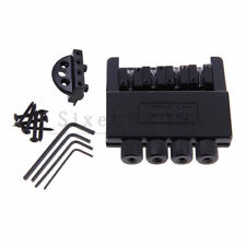 Headless 4 String Electric Guitar Bass Tremolo Bridge System Black
